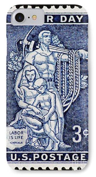 Labor Day Vintage Postage Stamp Print IPhone Case