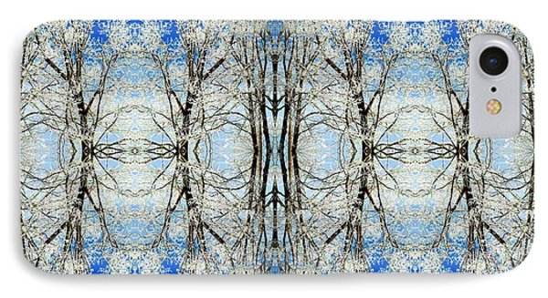 Lacy Winter Trees Abstract Art Photo IPhone Case