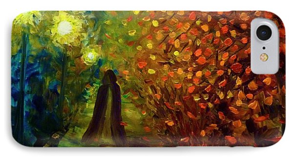 Lady Autumn IPhone Case
