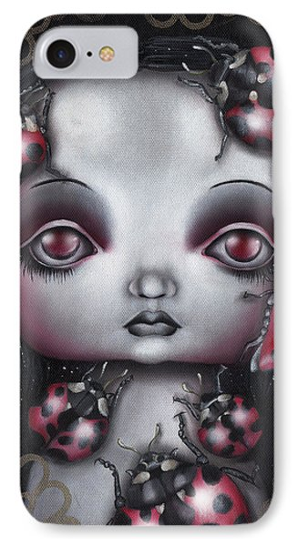 Lady Bug Girl IPhone Case