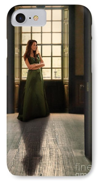 Lady In Green Gown By Window IPhone Case