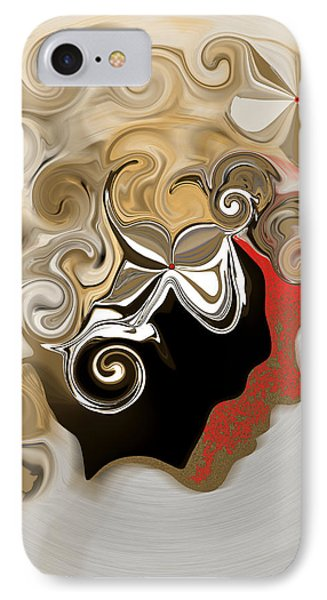 Lady With Curls IPhone Case