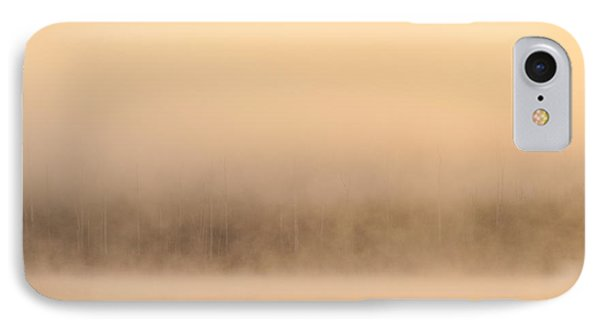 Lake Cassidy With Fog And Trees Along Shoreline Shrouded In Fog IPhone Case