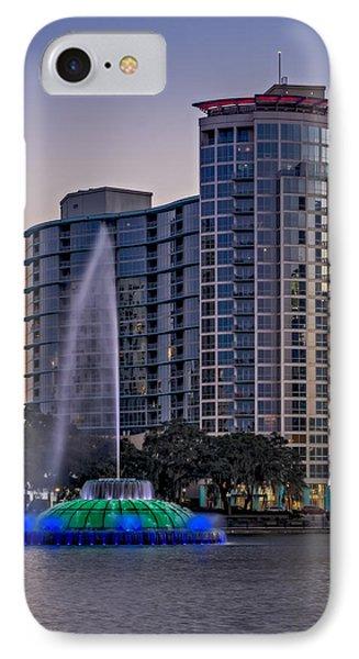 Lake Eola Water Fountain  IPhone Case
