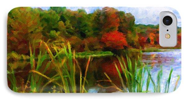 Lake In Early Fall IPhone Case