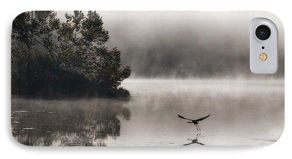 Lake Logan Fog And Heron - Flight IPhone Case