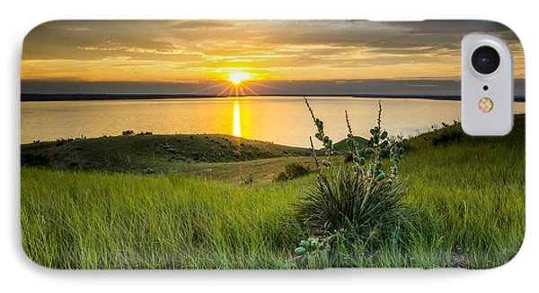Lake Oahe Sunset IPhone Case
