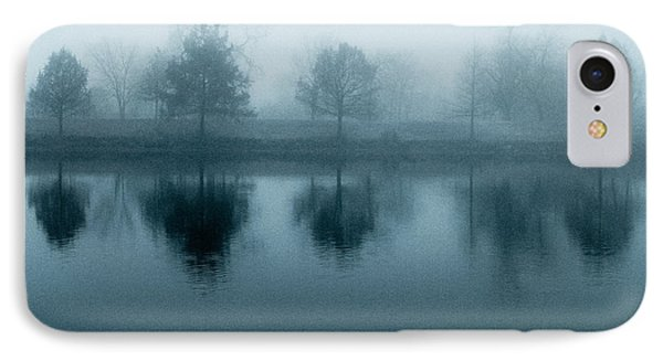 Lake Reflections In Blue IPhone Case