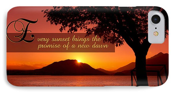 Lake Sunset With Promise Of A New Dawn IPhone Case
