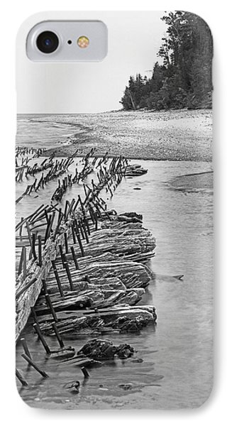 Lake Superior Shipwreck IPhone Case
