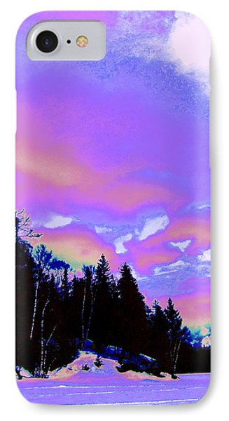 Winter  Snow Sky  IPhone Case