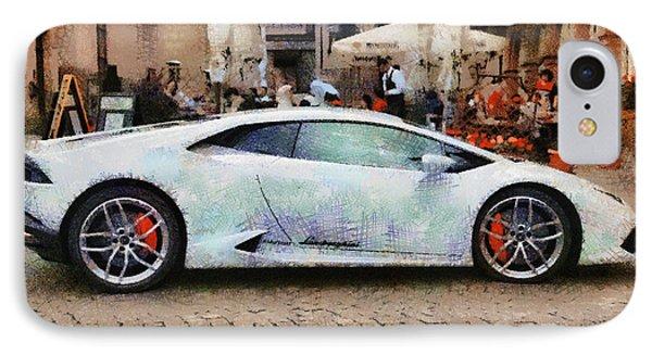Lamborghini Huracane Lp 610-4 Parked In The City IPhone Case