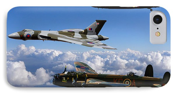 Lancaster Bombers And Vulcan Xh558 IPhone Case