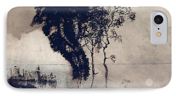 Landscape With Three Trees IPhone Case