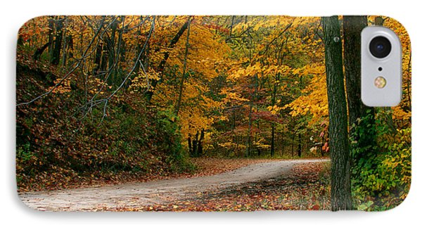 Lane In Fall IPhone Case