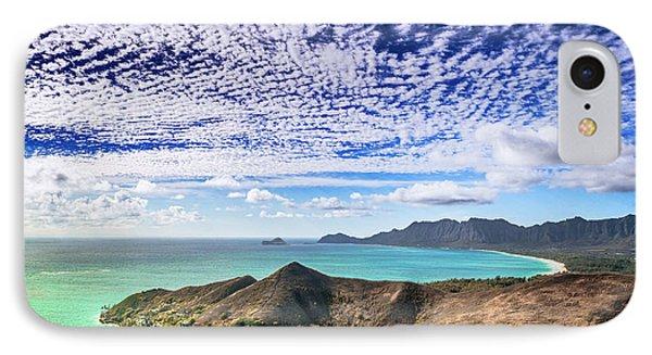 Lanikai Beach Cirrocumulus Clouds IPhone Case