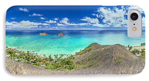 Lanikai Beach Panorama IPhone Case