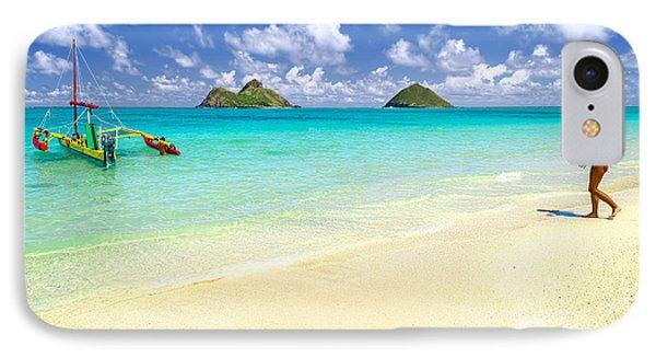 Lanikai Beach Paradise IPhone Case