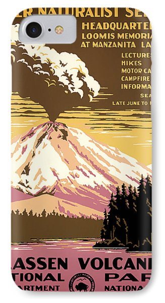 Lassen Volcanic National Park Travel Poster 1938 IPhone Case