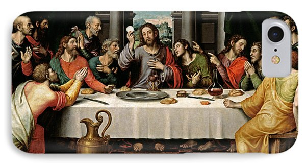 IPhone Case featuring the digital art Last Supper by Vicente Juan Macip