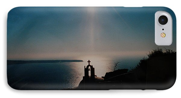 Late Evening Meditation On Santorini Island Greece IPhone Case