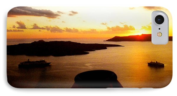 Late Sunset Santorini  Island Greece IPhone Case