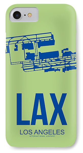 Transportation iPhone 8 Case - Lax Airport Poster 1 by Naxart Studio