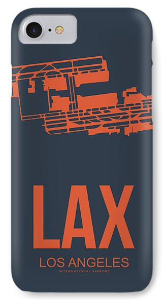 Transportation iPhone 8 Case - Lax Airport Poster 3 by Naxart Studio