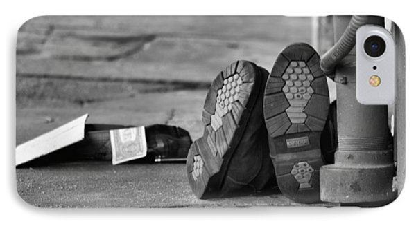 Lazy Beggar In Black And White IPhone Case
