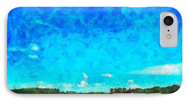 Lazy Clouds In The Summer Sun IPhone Case