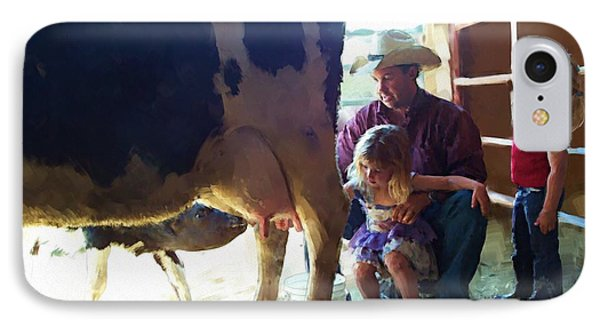 Learning How To Get Milk IPhone Case