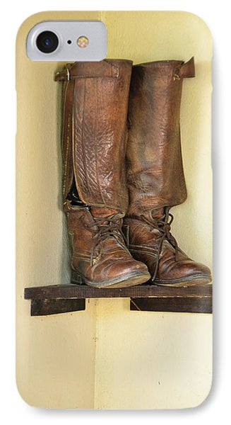 Leather Boots On Shelf Jamaica IPhone Case