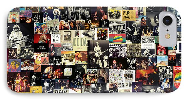 Rock And Roll iPhone 8 Case - Led Zeppelin Collage by Zapista