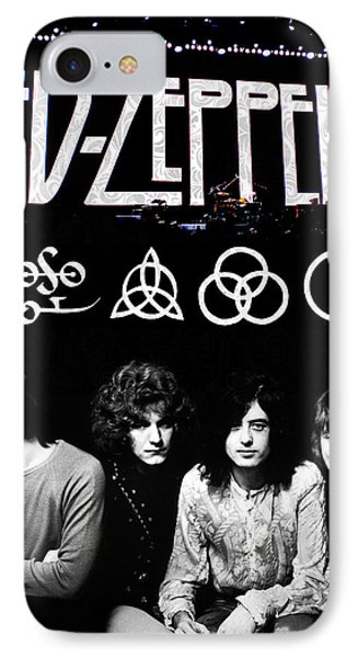 Musicians iPhone 8 Case - Led Zeppelin by FHT Designs