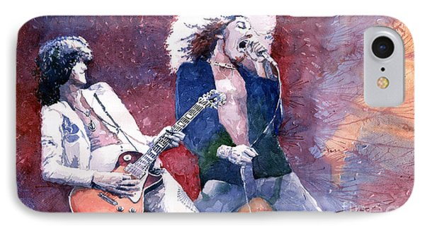 Musicians iPhone 8 Case - Led Zeppelin Jimmi Page And Robert Plant  by Yuriy Shevchuk