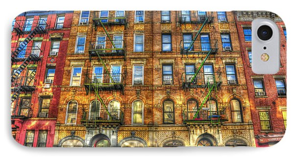 Rock And Roll iPhone 8 Case - Led Zeppelin Physical Graffiti Building In Color by Randy Aveille