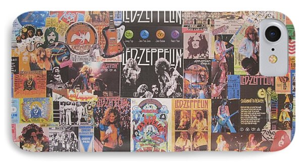 Drum iPhone 8 Case - Led Zeppelin Years Collage by Donna Wilson