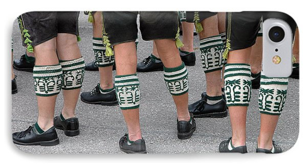 Legs Of Men With Traditional Bavarian Half Stockings IPhone Case