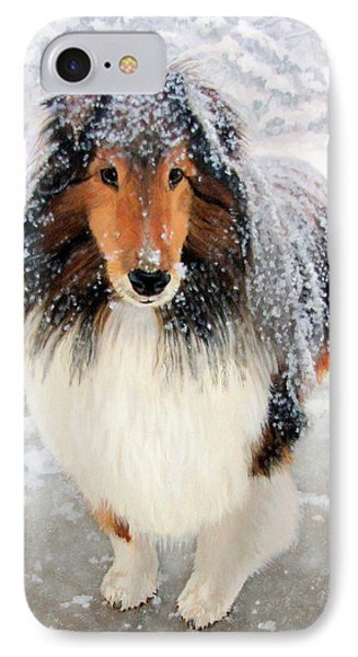 Leo In The Snow IPhone Case