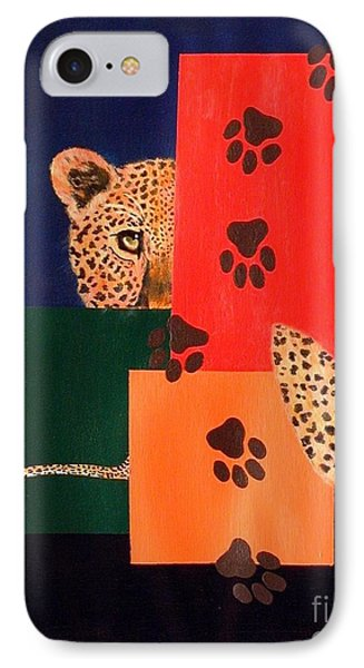 Leopard And Paws IPhone Case