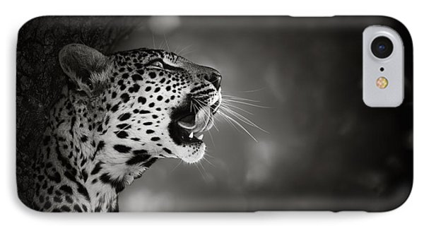 Cat iPhone 8 Case - Leopard Portrait by Johan Swanepoel