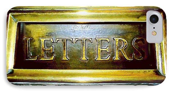 Letters Trough The Door IPhone Case