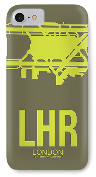 England iPhone 8 Case - Lhr London Airport Poster 3 by Naxart Studio