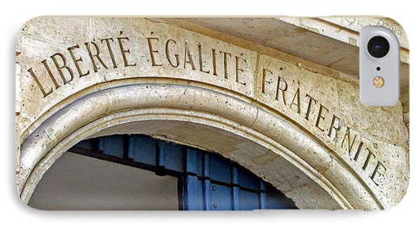 Liberte Egalite Fraternite IPhone Case