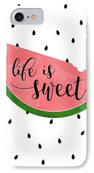 Life Is Sweet - Watermelon IPhone Case