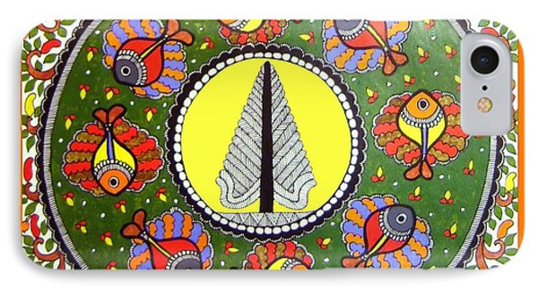 Life Of Tree-madhubani Painting IPhone Case