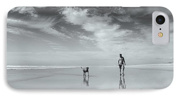 French iPhone 8 Case - Life's A Beach by Karen Van Eyken