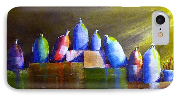 Light And Shadow On Paint Bottles IPhone Case