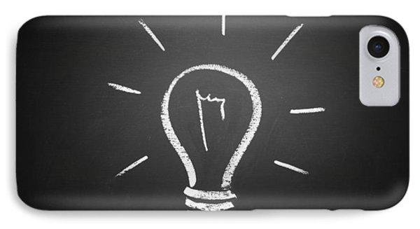 Light Bulb On A Chalkboard IPhone Case