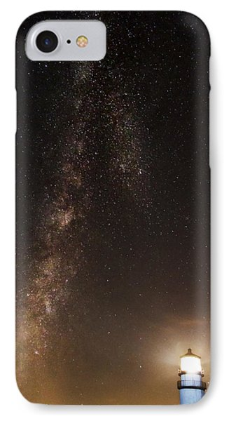 Lighthouse And Milky Way IPhone Case